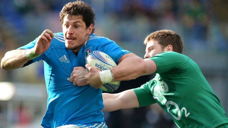 Alessandro Zanni: Starts at blindside flanker against Scotland
