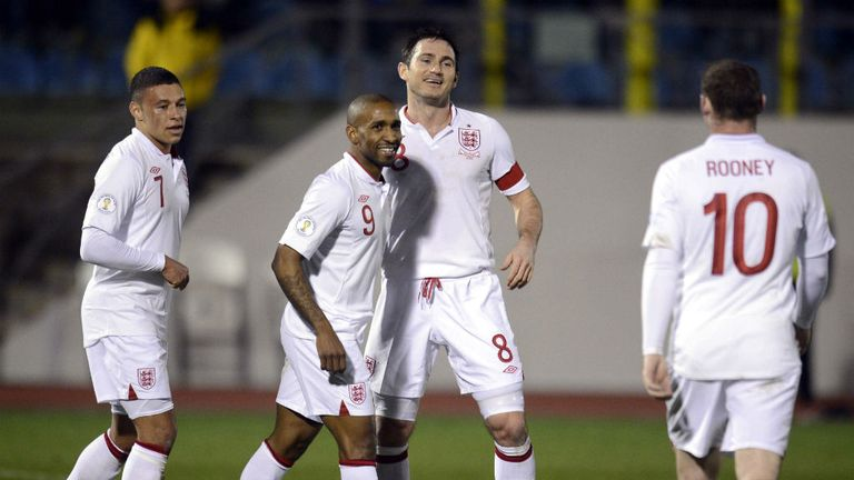 Jermain Defoe: England striker celebrates scoring against San Marino
