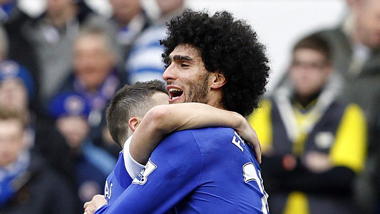 Marouane Fellaini: Has the backing of Everton team-mate Phil Jagielka