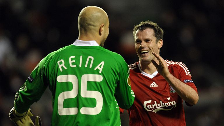 Jose Reina and Jamie Carragher could return for Liverpool against Aston Villa