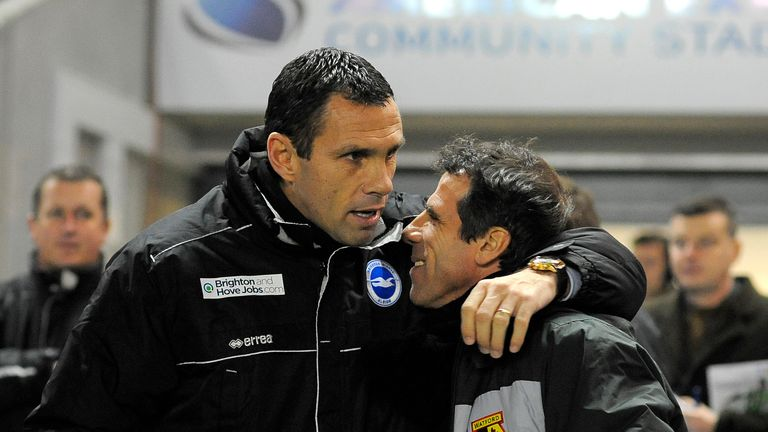 Abramovich could appease Chelsea fans by appointing Poyet (L) or Zola, says Jeff