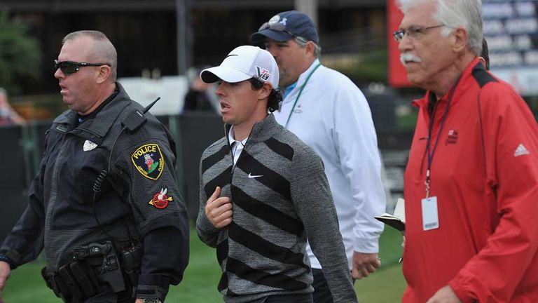 Rory McIlroy: Seven over for second round before pulling out