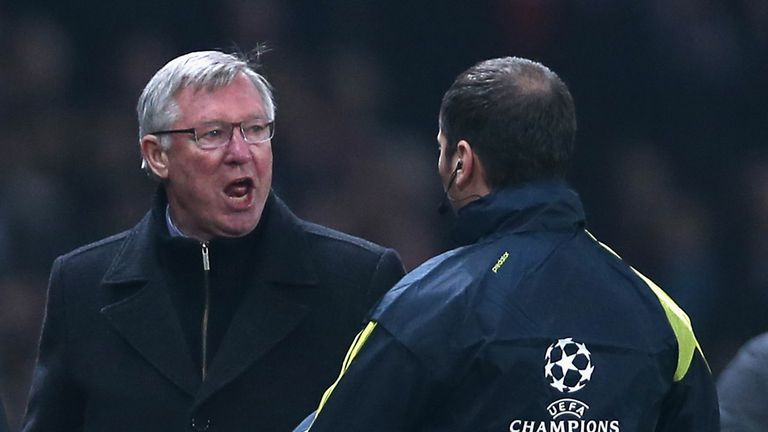 Sir Alex Ferguson: Declined to speak to the media after Madrid loss.