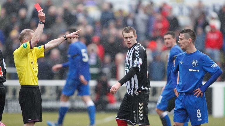Ian Black: Rangers midfielder sees red at Elgin City