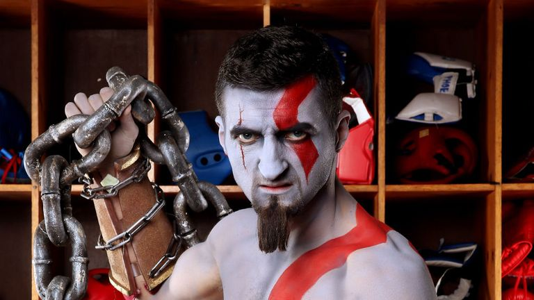 Carl Froch trains as God of War in the build-up to his re-match with Mikkel Kessler. PlayStation's God of War: Ascension - out Friday 15th March