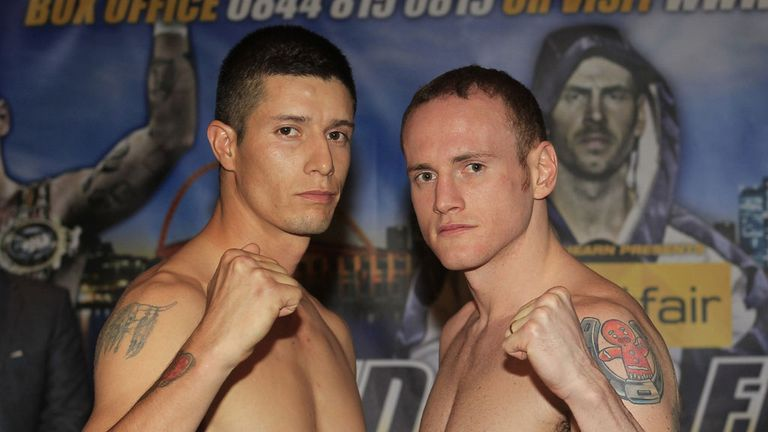 Dario German Balmaceda and George Groves: Fight on undercard of the Darren Barker bill (Lawrence Lustig/Matchroom)