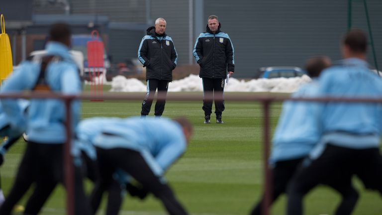 Paul Lamber supervises training ahead of Liverpool showdown