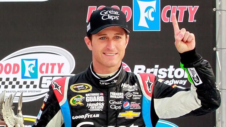 Kasey Kahne: Celebrating maiden win at Bristol Motor Speedway