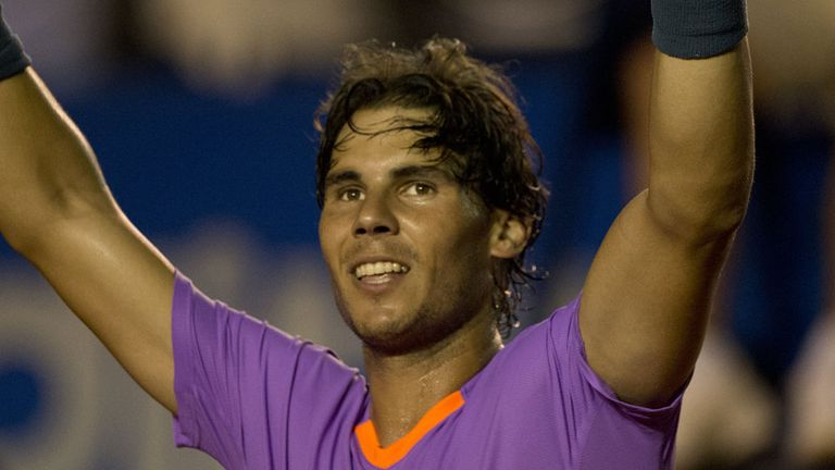 Victory in the quarter-final delights Rafa Nadal