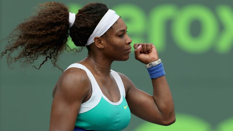 Serena Williams: Won five games in a row to take the second set after being 4-1 down at one stage