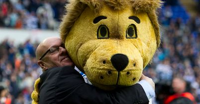 McDermott: Receives hug from mascot Kingsley
