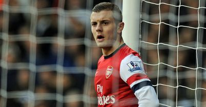 Wilshere: Shows his disappointment on Sunday