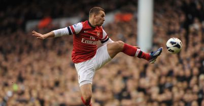 Lukas Podolski: Has played mostly on the left of Arsenal's three-man attack