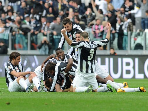 Celebrations for Juventus.