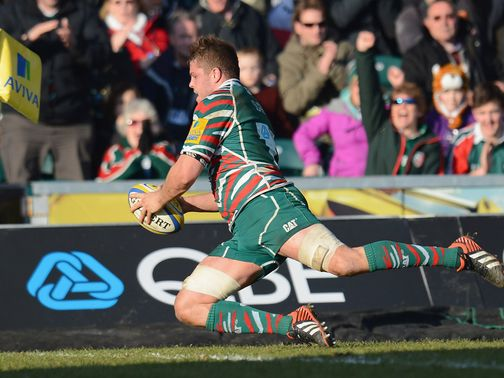 Ed Slater scored two tries for Leicester