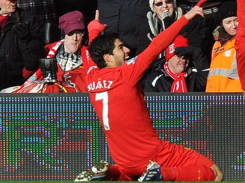 Luis Suarez scored in a Liverpool win