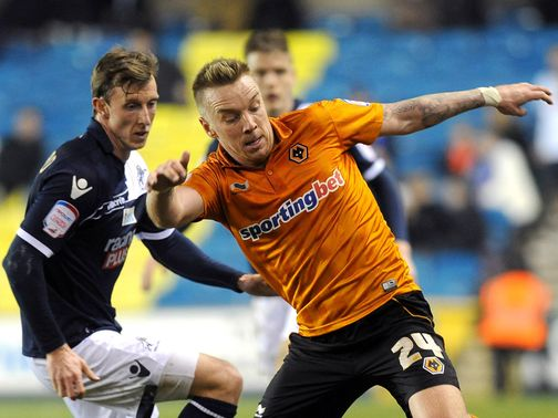 Jamie O'Hara in action for Wolves