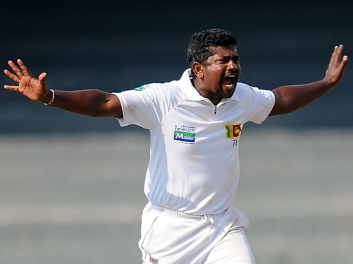 Herath celebrates for Sri Lanka