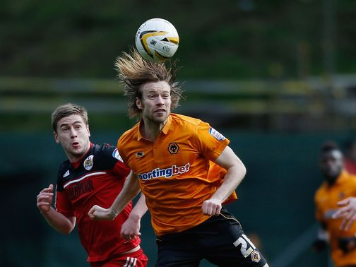 Kaspars Gorkss in action for Wolves