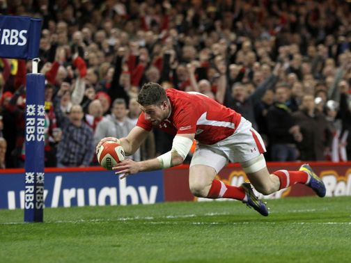 Two-try hero: Alex Cuthbert