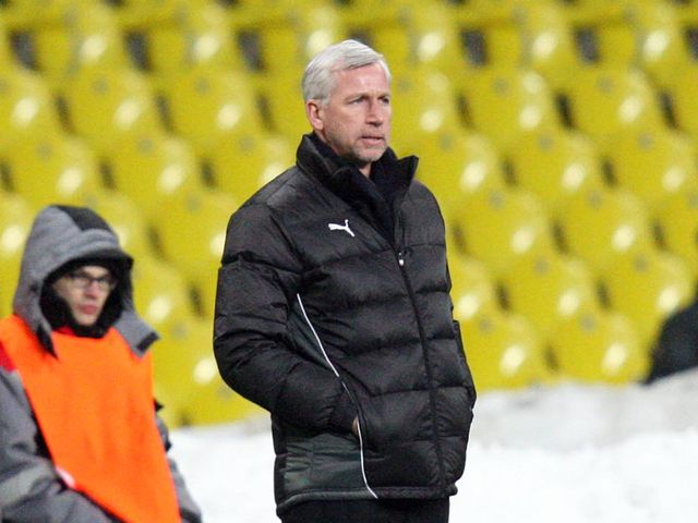 Pardew: Watched his side draw 0-0 in Moscow