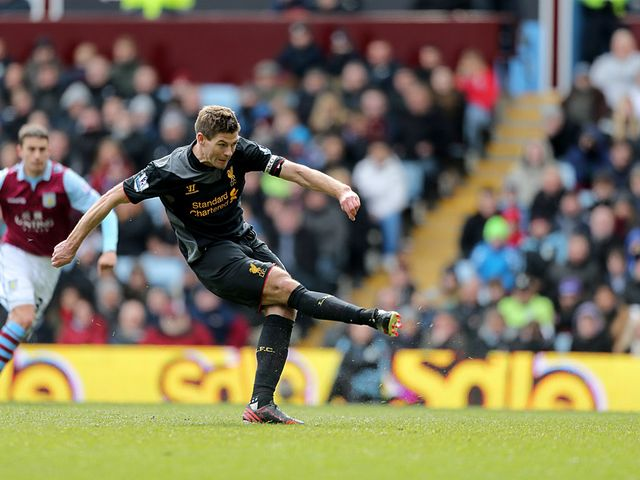 Steven Gerrard scores the winner from the penalty spot