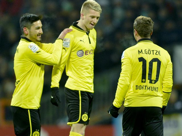 Gundogan and Reus (left): City links