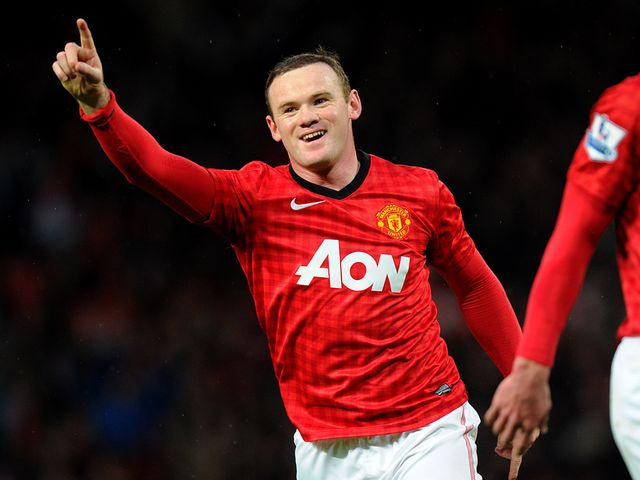 Rooney' strike sent United to within 13 points of the PL title