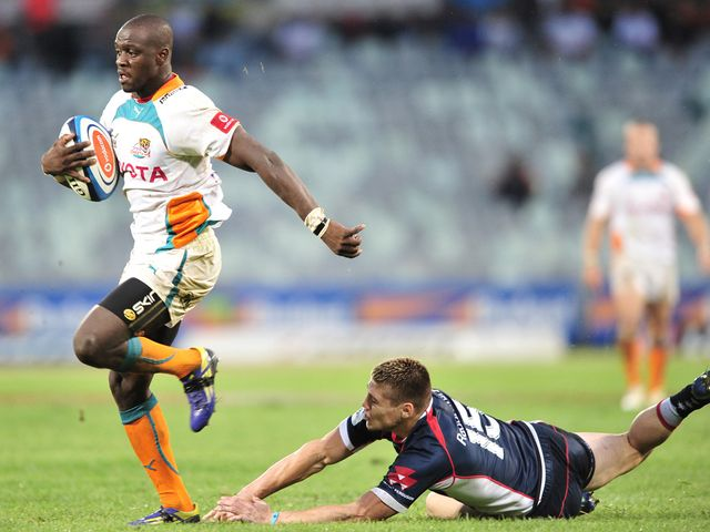 Raymond Rhule breaks clear for the Cheetahs