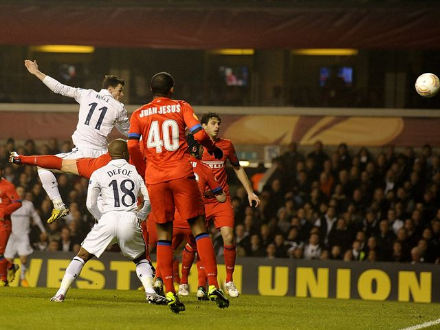 Gareth Bale heads Tottenham into the lead
