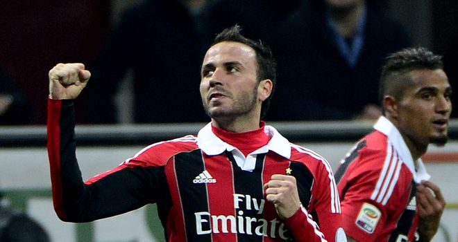 Giampaolo Pazzini: Hoping to end his scoreless run in the Milan derby