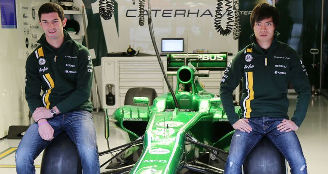 Caterham reserves Alexander Rossi and Ma Qing Hua