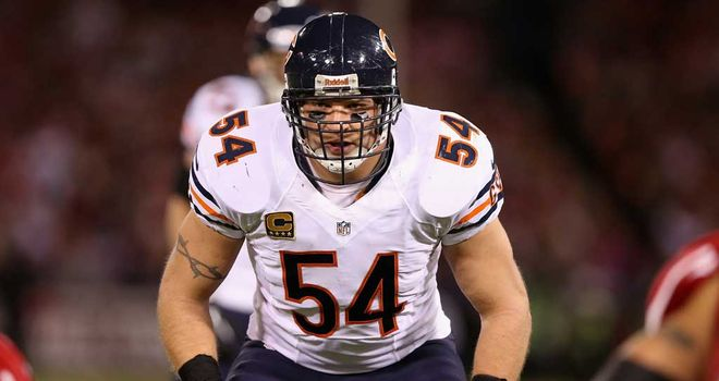 Brian Urlacher: Spent 13 seasons with the Bears