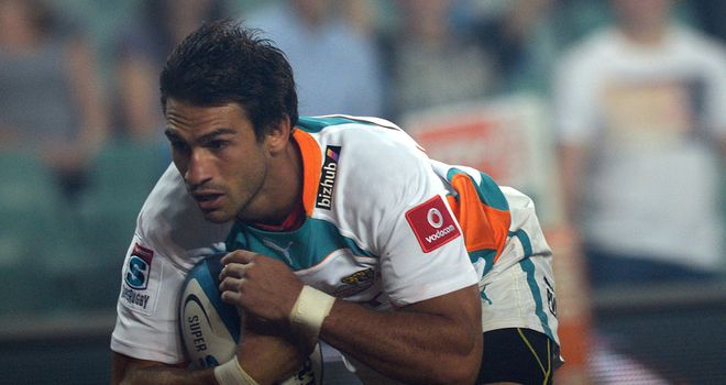 Robert Ebersohn in try-scoring action for the Cheetahs