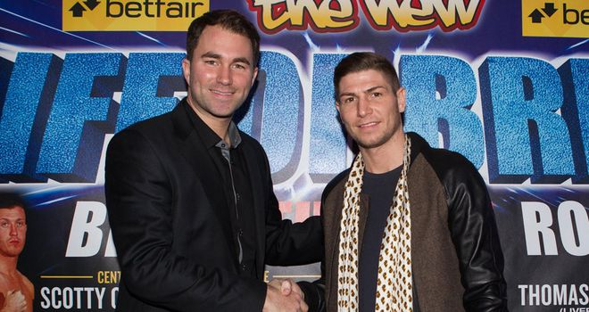 Eddie Hearn and Brian Rose: Looking to move up to world title level (Mark Robinson)