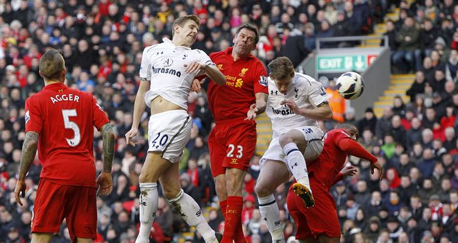 Liverpool: didn't match Spurs' physicality