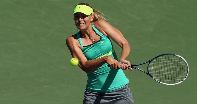 Maria Sharapova: failed to convince but did enough to go through