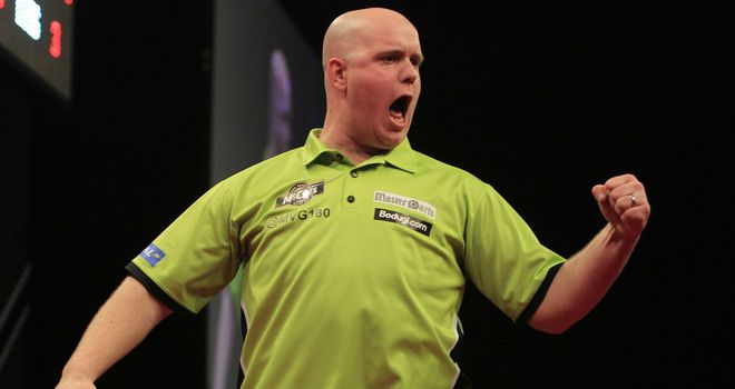 Michael van Gerwen: In sensational form in Cardiff (Image: Lawrence Lustig/PDC)