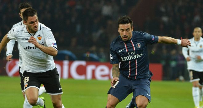Ezequiel Lavezzi: On target for PSG