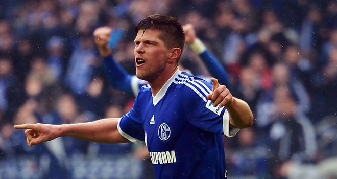 Klaas Jan Huntelaar doubled Schalke's lead before the break