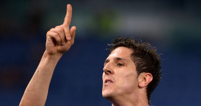 Stevan Jovetic was on target for Fiorentina