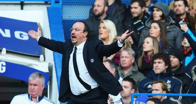 Rafa Benitez: Delighted with the atmosphere at Stamford Bridge