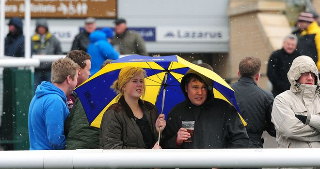 Early arrivals at Doncaster on Wednesday may need to bring a brolly