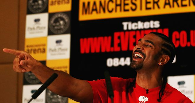 David Haye: Is making a full-time return to boxing.
