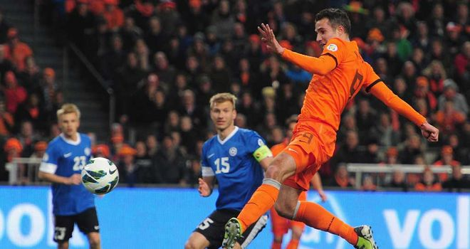 Robin van Persie: On target as Holland continued their winning run