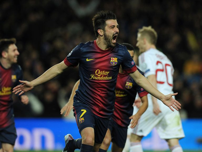 David Villa: 'Very happy' at Barcelona