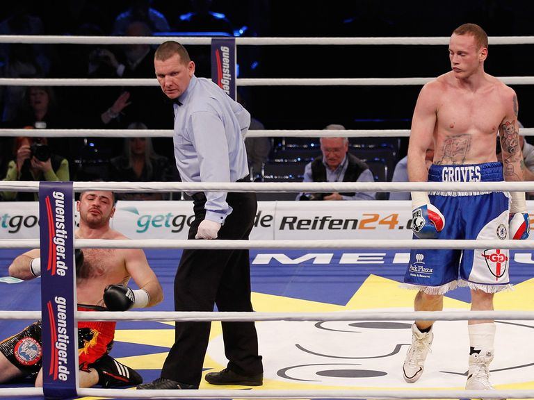George Groves puts Baker Barakat on the canvas