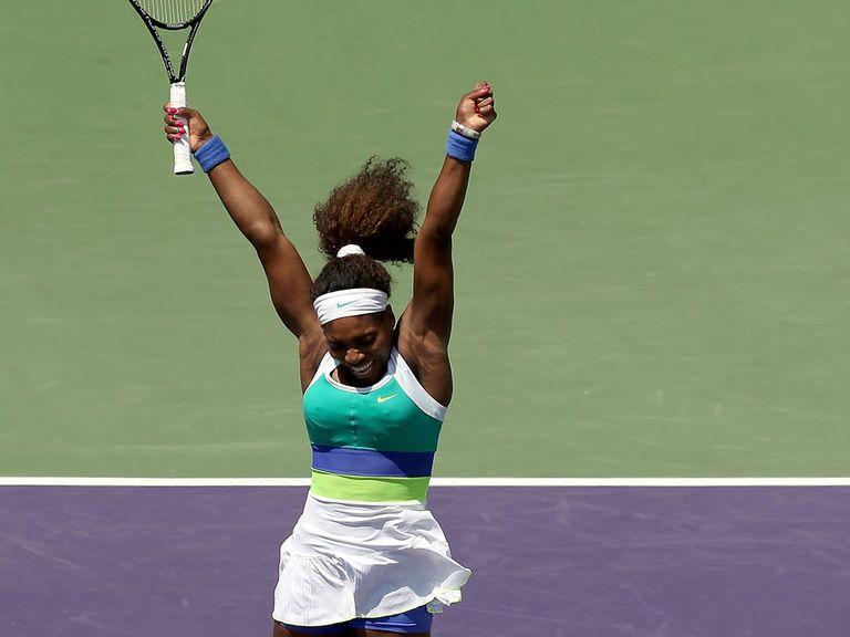 Serena won a firey encounter