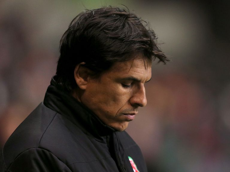 Chris Coleman: Delayed arrival to Macedonia