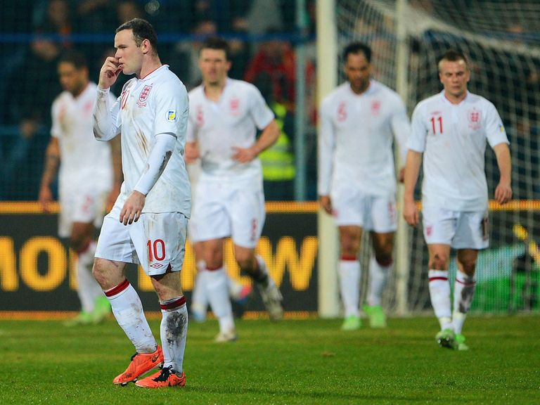 England were pegged back in Montenegro